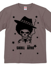 SKULL of the AFRO - BLACK