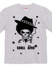 SKULL of the AFRO - BLACK