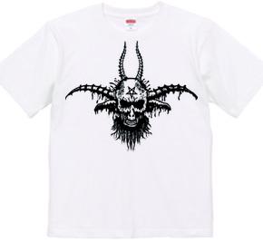 バフォメットスカル悪魔Tシャツ