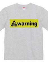 """""""ドクロ警告マーク""""海外製品の取扱注意表示Tシャツ"""