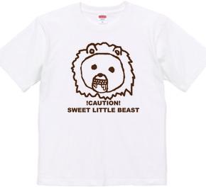 ゆるきゃら風のライオンがついたTシャツ