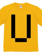 Dot Alphabet - U -
