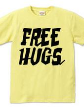 FREE HUGS (Standard Font 2 BK)