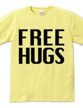 FREE HUGS (Standard Font 3 BK)