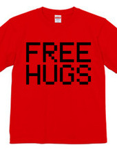 FREE HUGS (Standard Font 4 BK)