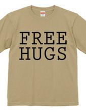 FREE HUGS (Standard Font 5 BK)