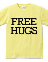 FREE HUGS (Standard Font 6 BK)
