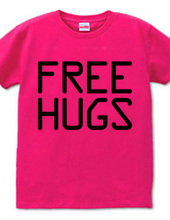 FREE HUGS (Standard Font 10 BK