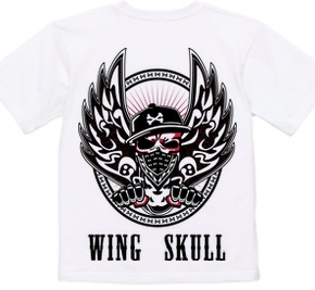 WING SKULL (両面プリント)