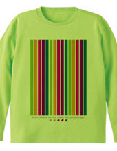 Multi-colored vertical stripes