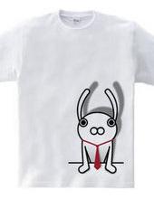 ウサギ×ネクタイ