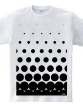 polka-dot pattern (Black)