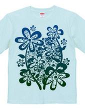 POP FLOWER - blue and green