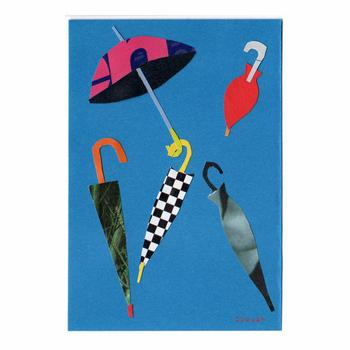 傘と傘と紙の傘