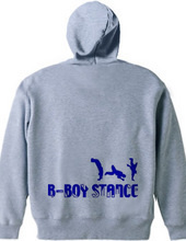 B-BOY STANCE 秋冬Ver.ジップパーカ