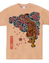 虎と桜吹雪