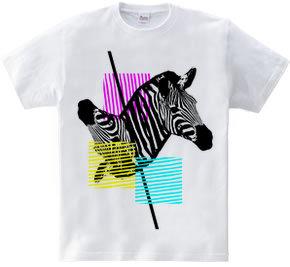 Wild Zebra in the mirror.