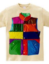 Color downvest