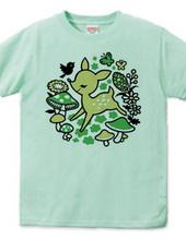 Hopping deer -green