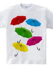 An umbrella is bright