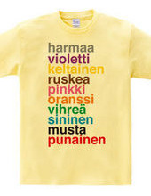 Color Names: finnish