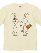 ウサギとニンジン。