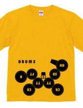 練習用ドラムセットデザイン