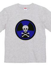 放射能ドクロ(ブルー)