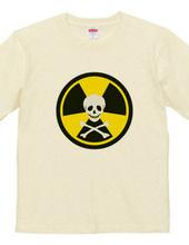 放射能ドクロ(イエロー)