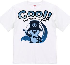 クール!海賊ペンギンイラストTクールブルー