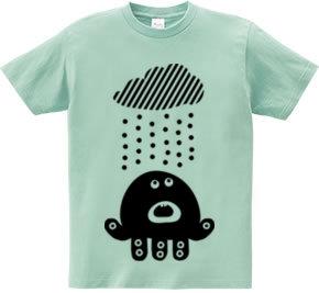 雨にあたる宇宙人