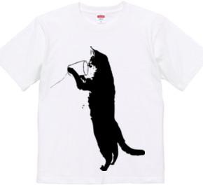 猫の糸電話 黒01