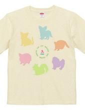 アニマルシルエット♪6匹の動物たち