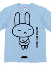 stuffed toy rabbit(浮遊02)
