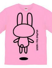 stuffed toy rabbit(浮遊03)