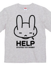 stuffed toy rabbit(HELP02)両面