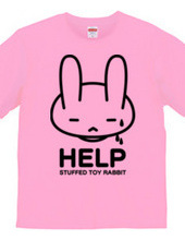 double-sided stuffed toy rabbit  HELP02