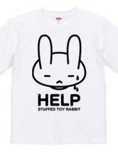 stuffed toy rabbit(HELP02)両面