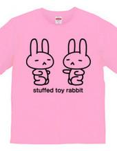 stuffed toy rabbit(パンチの練習)