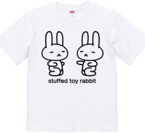 stuffed toy rabbit(パンチの練習)