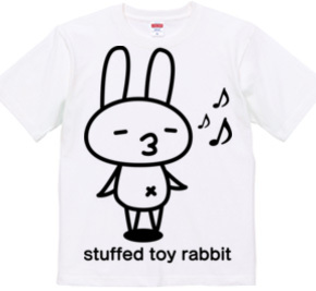 stuffed toy rabbit(ご機嫌気分)