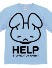 stuffed toy rabbit (HELP) single-sided
