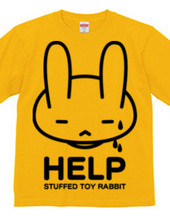 single-sided stuffed toy rabbit  HELP02
