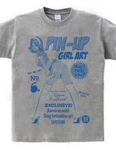 American maid pinup girl blue