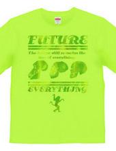 Evolves into the future