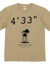 """ジョンケージ 4 33"""" Tシャツ カラー1"""