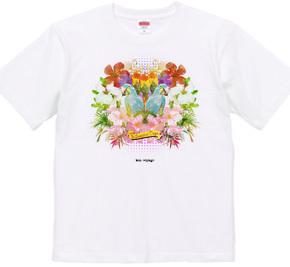 """Bon Voyage"" コラージュTシャツ"
