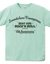 Scandalass Trumpman 10周年記念Tシャツ