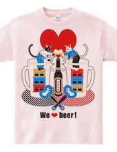 """We love beer!"" 5 colors"