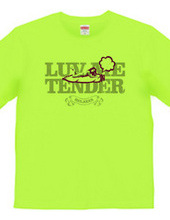 """luv me tender/purple"" T-shirt"